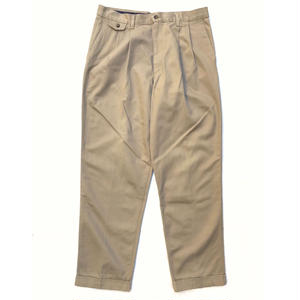 Made in USA / Cotton 2Tuck Slacks  / Beige / Used
