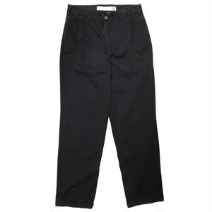 Cotton 2Tuck Slacks  / Black / Used