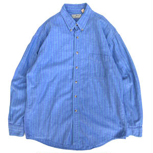 Made in USA / Old L.L.BEAN / Stripe Shirt / Blue×Green