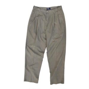 Made in USA / 90s Ralph Lauren / 2 Tuck Chino Pants / Beige