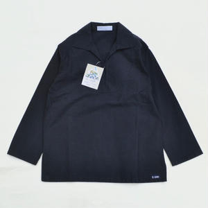 DEAD STOCK EUROPE PULLOVER SHIRTS / NAVY / Made in France