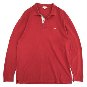 Old Burberry / L/S Polo Shirt / WineRed