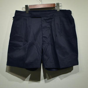 "British Navy ""Dead Stock"" 2 Tuck Shorts / Navy"