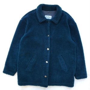 Made in USA / 90s L.L.Bean / Boa Fleece Coat / Blue / Used