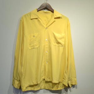 Old Open Collar Shirts / Yellow