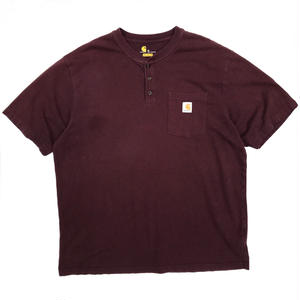 Carhartt / Hanley Neck Tee / Burgundy / Used