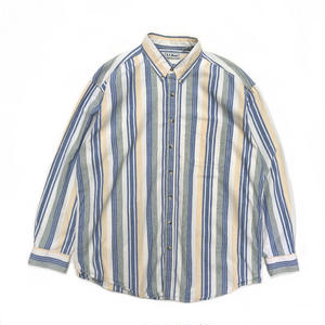 L.L.Bean / L/S Cotton Stripe Shirt / Yellow / Used
