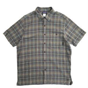 Patagonia / S/S Check Shirt / khaki × Yellow × Green / Used