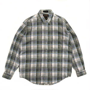 80s Eddie Bauer / L/S Check Shirt /  Mint  / Used