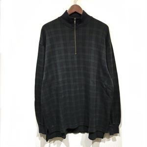 Used Polo Ralph Lauren / Half Zip Cotton Sweater / Black Watch