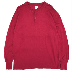 Made in USA / Old L.L.BEAN Henley Neck L/S Tee / Burgundy
