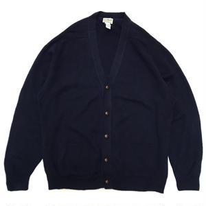 L.L.Bean / Wool Cardigan / Navy / Used