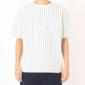 SON OF THE CHEESE / STRIPE TEE / WHITE
