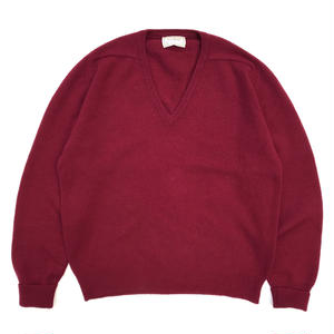 Made in USA / L.L.Bean / V-neck  Knit / Burgundy / Used