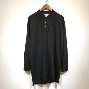 USED L/S Cotton Polo Shirts / Black
