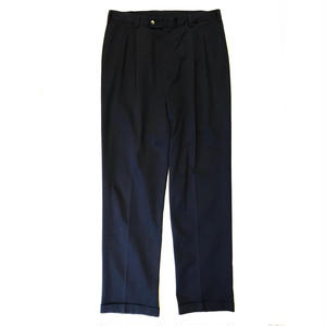 Cotton 2Tuck Slacks  / Navy / Used
