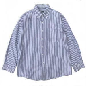 L.L.Bean / L/S Striped B.D. Shirt / blue × white / Used