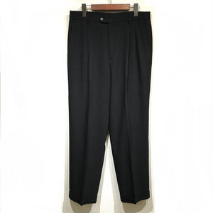 OLD SLACKS 2 TUCK SLACKS / Black