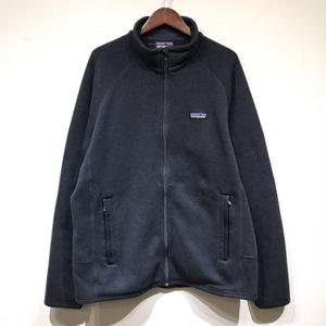 USED Patagonia / FLEECE KNIT JACKET / Navy
