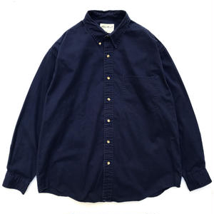 90s Eddie Bauer / L/S B.D. Cotton Shirt / Navy / Used