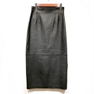 OLD Leather Skirt / Black