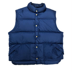 90s L.L.Bean / Rip Stop Nylon DownGoose Down Nylon Vest / Navy / Used