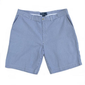 Polo Ralph Lauren / Seersucker Stripe Shorts / White × Blue / USED