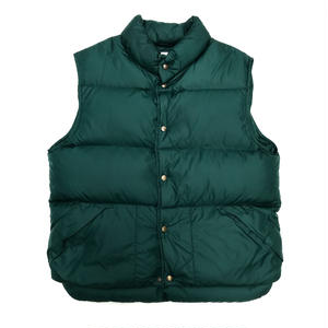 90s L.L.Bean / Rip Stop Nylon DownGoose Down Nylon Vest / Green / Used