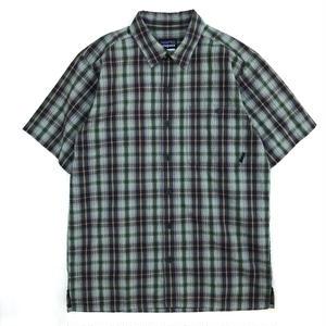Used Patagonia / S/S Check Shirt / Green Check