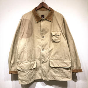 50s Vintage / RED HEAD / Cotton Poplin Hunting Jacket / Beige