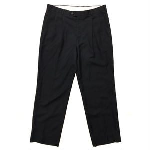Made in USA /  2Tuck Slacks  / Black / Used