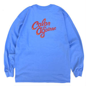 【受注商品】Color at Against ORIGINALS / C&C Long Sleeve TEE / SAX
