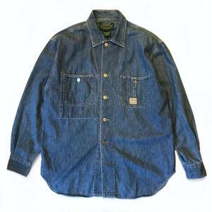 90s Polo Country / Vintage Denim Shirt / indigo  / Used
