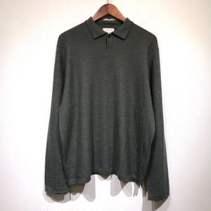 Used BARNEYS NEWYORK / L/S Cotton Polo Shirts / Olive