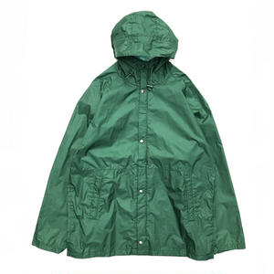 80s Eddie Bauer / Nylon Rain Coat /  Forest / Used