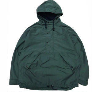 90s GAP / Nylon Anorak Parka /  ForestGreen / Used
