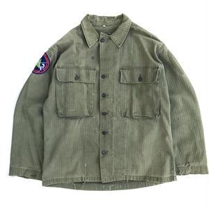 40s Vintage US ARMY / Herringbone 2 Pocket Jacket / Olive