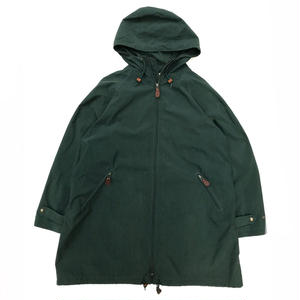 90s Eddie Bauer / Mountain Rain Parka /  Forest Green / Used