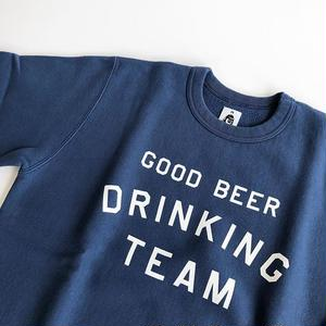 TACOMA FUJI RECORDS / GOOD BEER DRINKING TEAM designed by Shuntaro Watanabe / NAVY /タコマフジ/スウェット/ネイビー