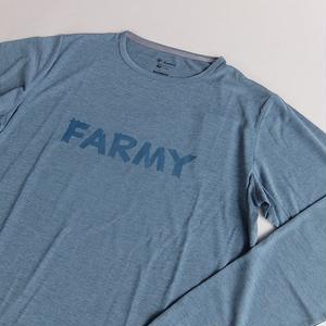 HARVESTA! × FOXFIRE / SCORON PRINT TEE / NIGHT BLUE / ハーベスタ! × フォックスファイアー / 防虫Tシャツ / ナイトブルー