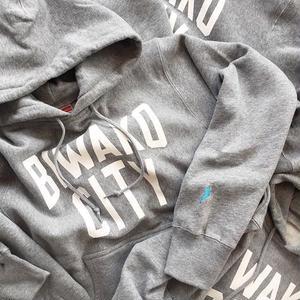 -CONNECT- ORIGINAL / BIWAKO CITY SWEAT PARKA / GRAY × WHITE / コネクトオリジナル / ビワコシティスウェットパーカー / グレー×ホワイト