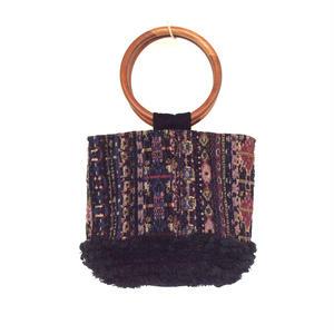 <women>ne Quittez pas(ヌキテパ) ジャカード×フリンジ ハンドバッグJacquqrd Wood Handle Bag(012082330) / PINK