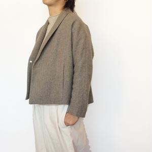 <women>evam eva(エヴァム エヴァ) ショールカラージャケットコート lambs wool short coat( E183T155) / ベージュ(mocha)