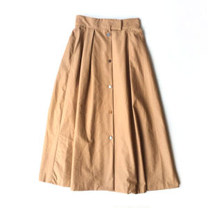 <women>Espeyrac(エスペラック)メタルボタン・ロング丈・フレアラップスカート / ベージュ