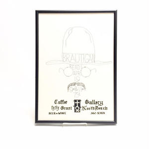 "Richard Brautigan Handbill Poster  ""Coffee Gallery"""