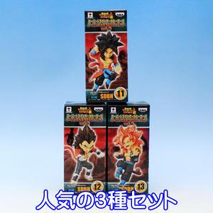 スーパードラゴンボールヒーローズ ワールドコレクタブルフィギュアvol.3 フィギュア DRAGON BALL グッズ バンプレスト(人気の3種セット)