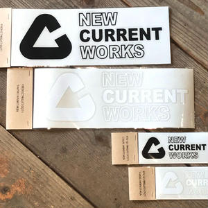 NEW CURRENT WORKS LOGO cutting sticker【Sサイズ】