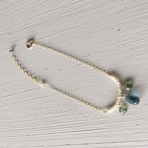 【14kgf】【11月誕生石】ロンドンブルートパーズのブレスレット【14kgf】 【November birthstone】London Blue Topaz bracelet