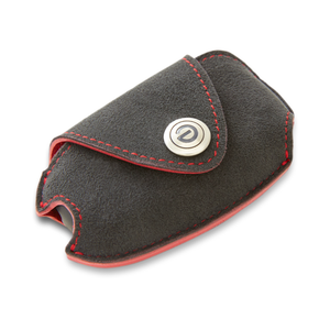 DAMD Premium Suede Key Case for SUBARU -Ultra Suede × Red Stitch-