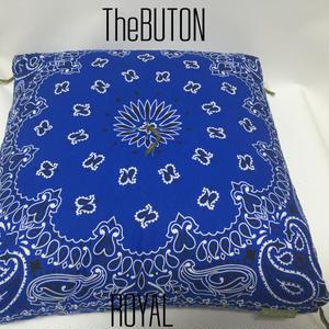 TheBUTON BANDANA ROYAL BLUE